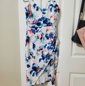 Summer body con dress with slit